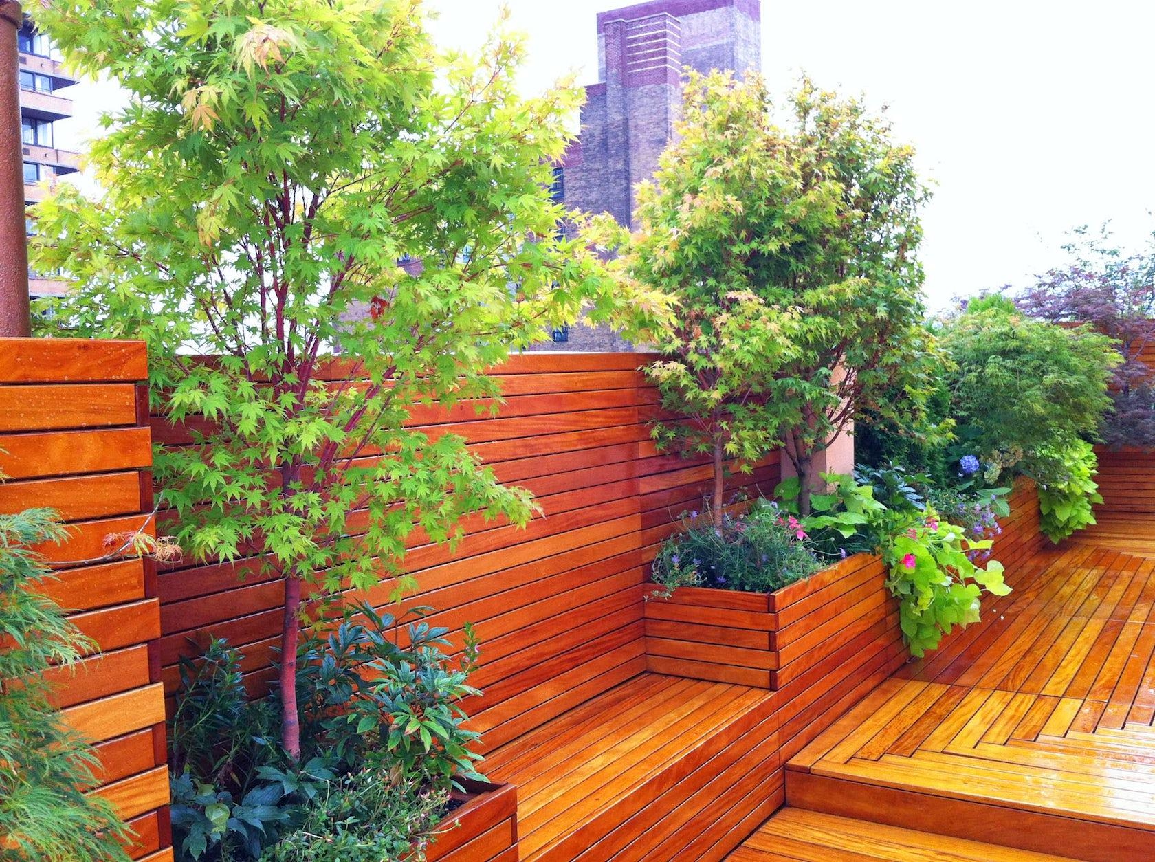 Nyc Roof Garden Design Yoga Studio Architizer