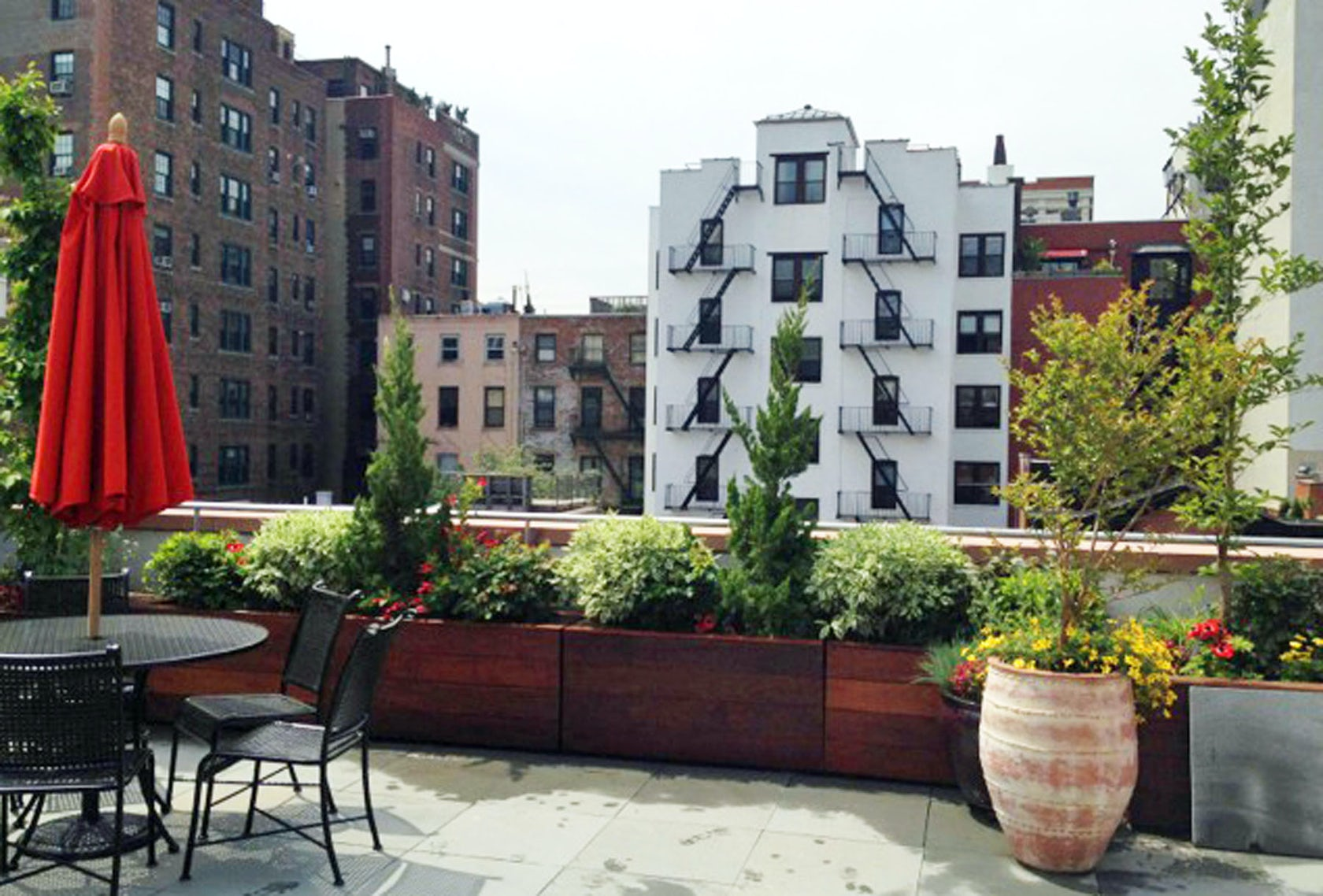 nyc backyard patio and roof garden design brooklyn townhouse