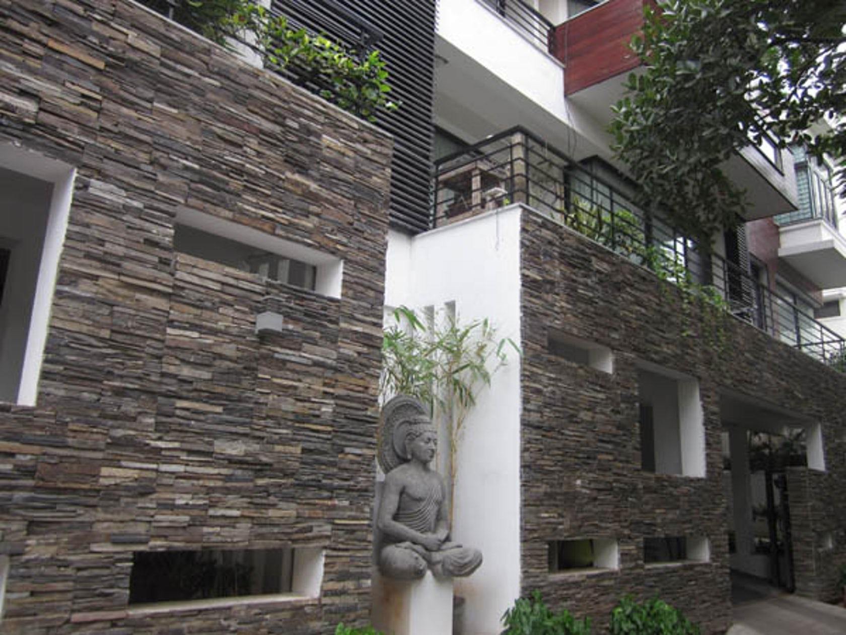 Natural Stone Cladding Elevation : Vijaya residential appartments architizer