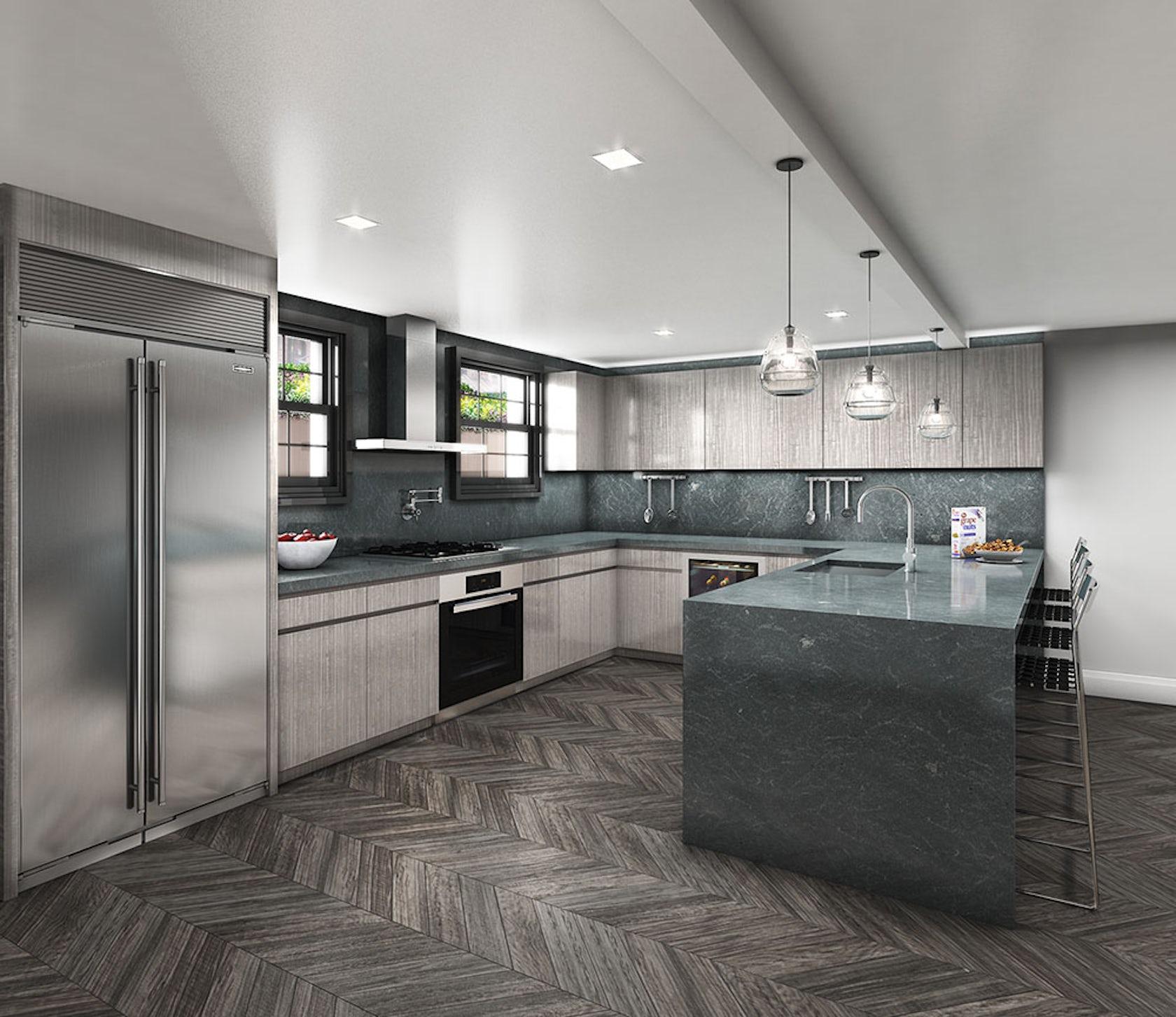 Kitchen Design Rendering: Greenwich Village Townhouse, Kitchen Rendering
