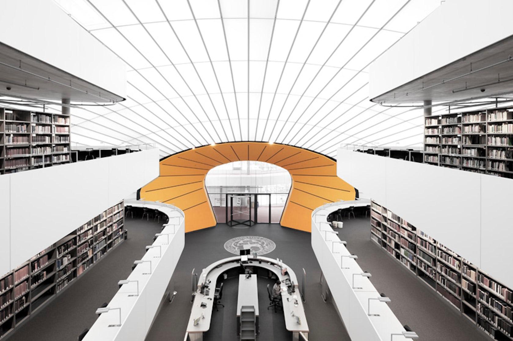 Philologische bibliothek berlin by norman foster for Interior architecture berlin