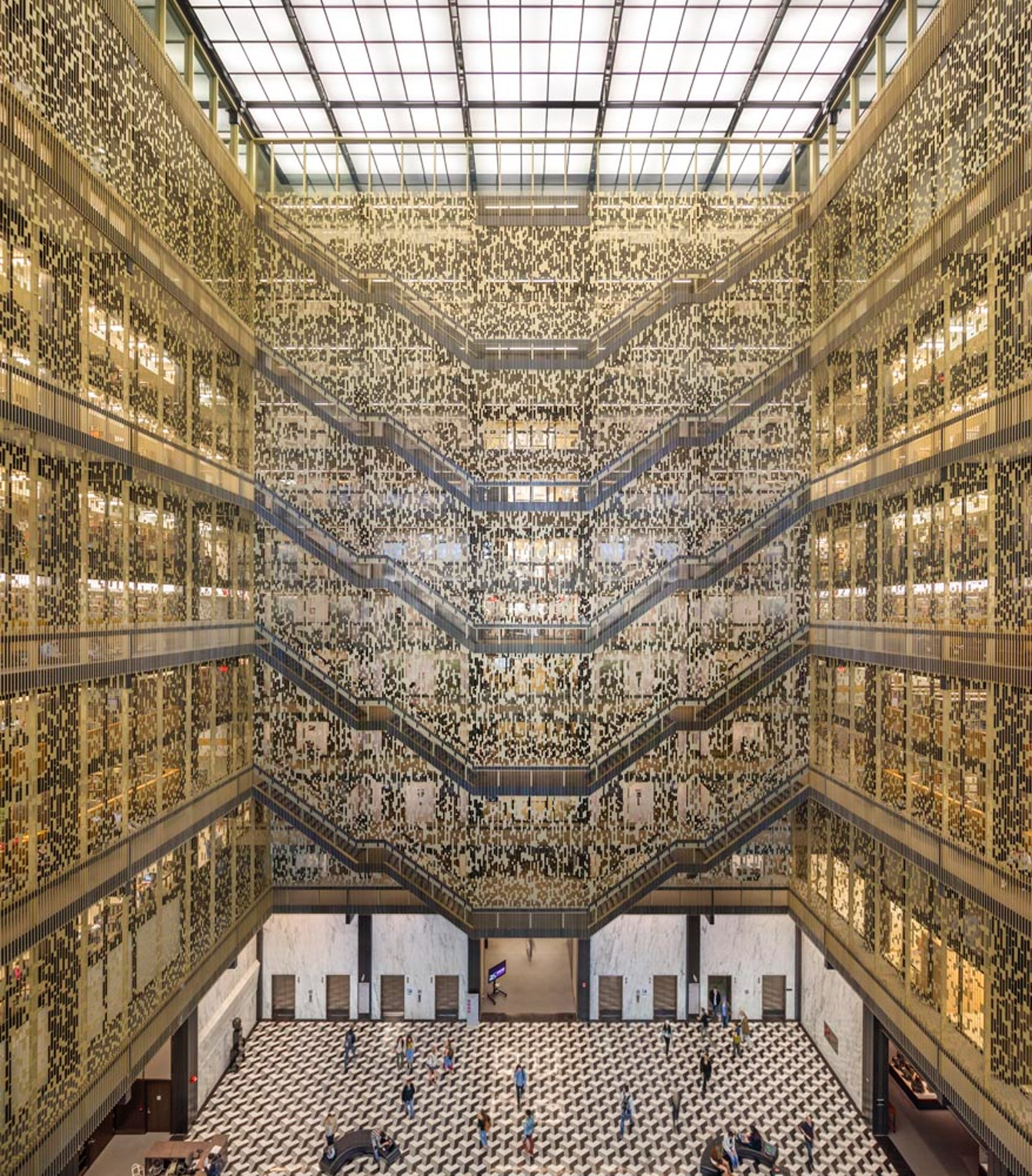 Haunted House York University: NYU Bobst Library Pixel Veil