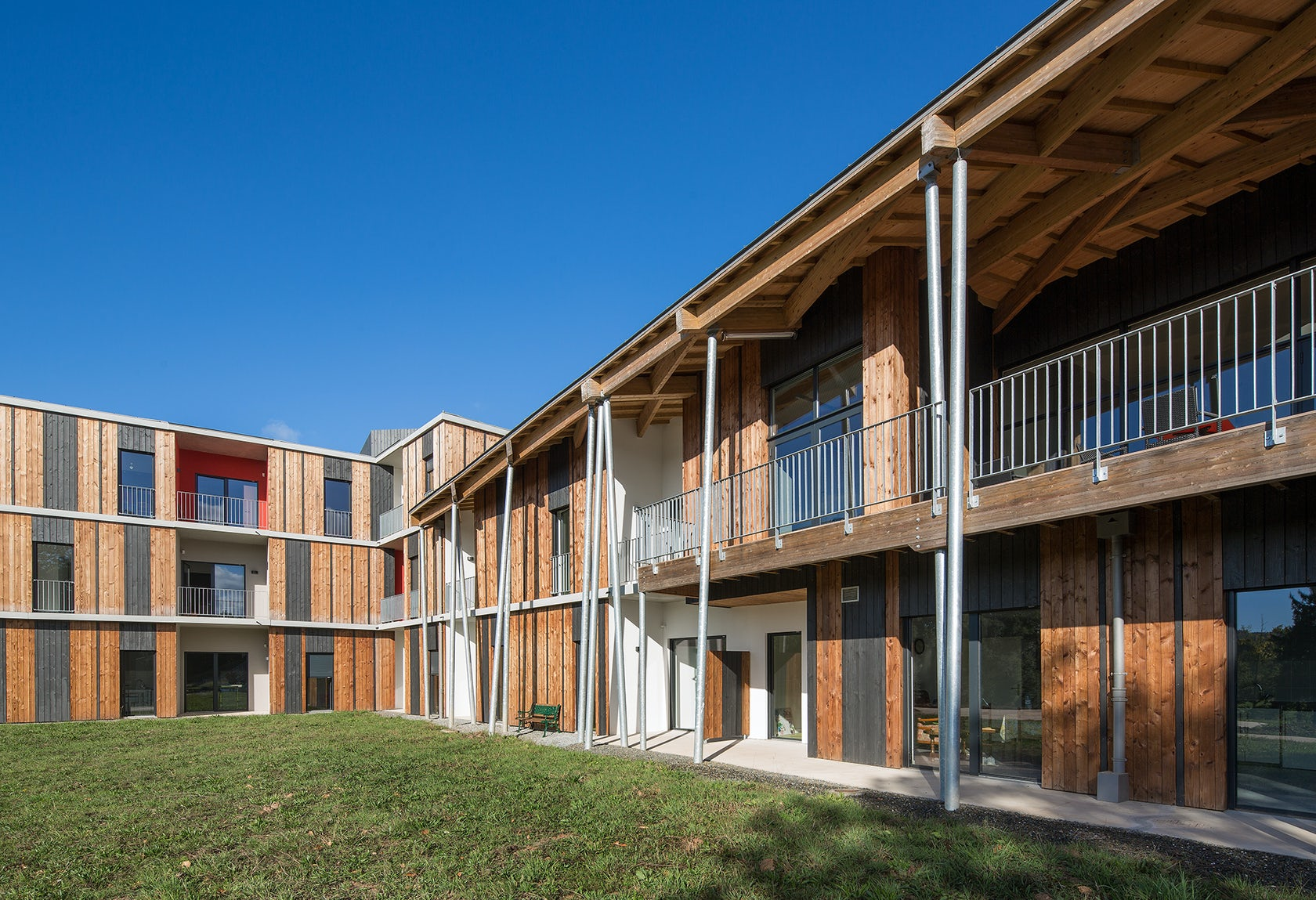 Accommodation facility for the elderly architizer for Architecture nomade