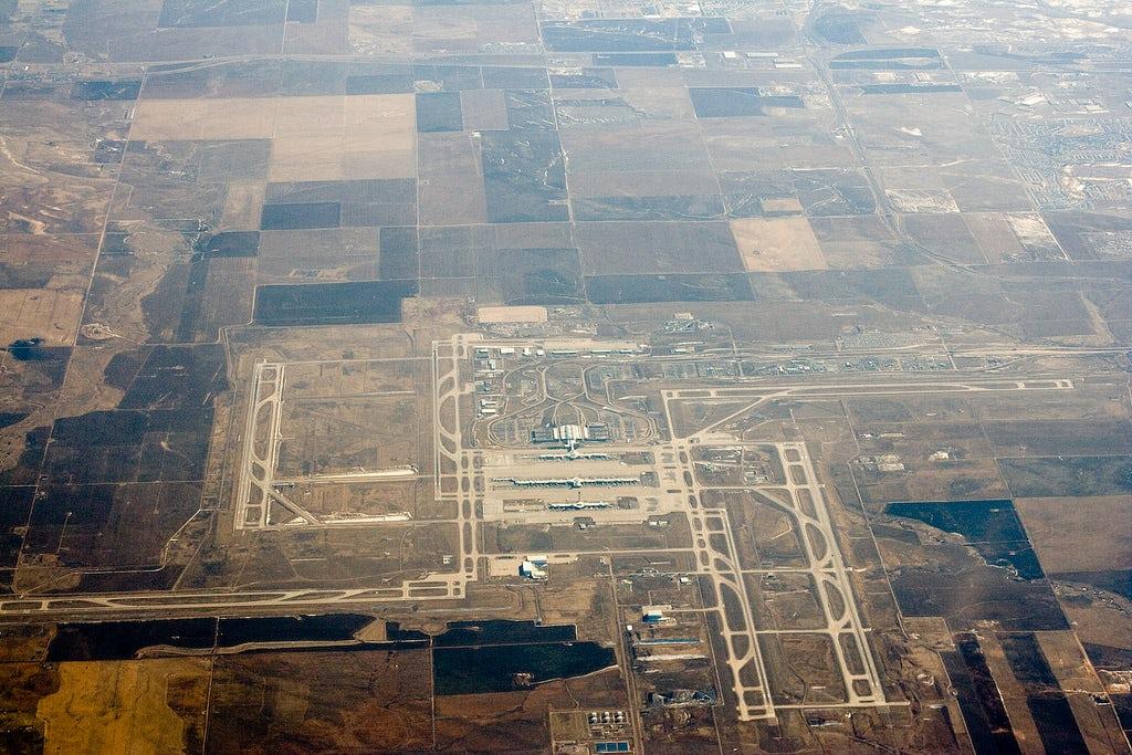 Aerial photos of denver international airport