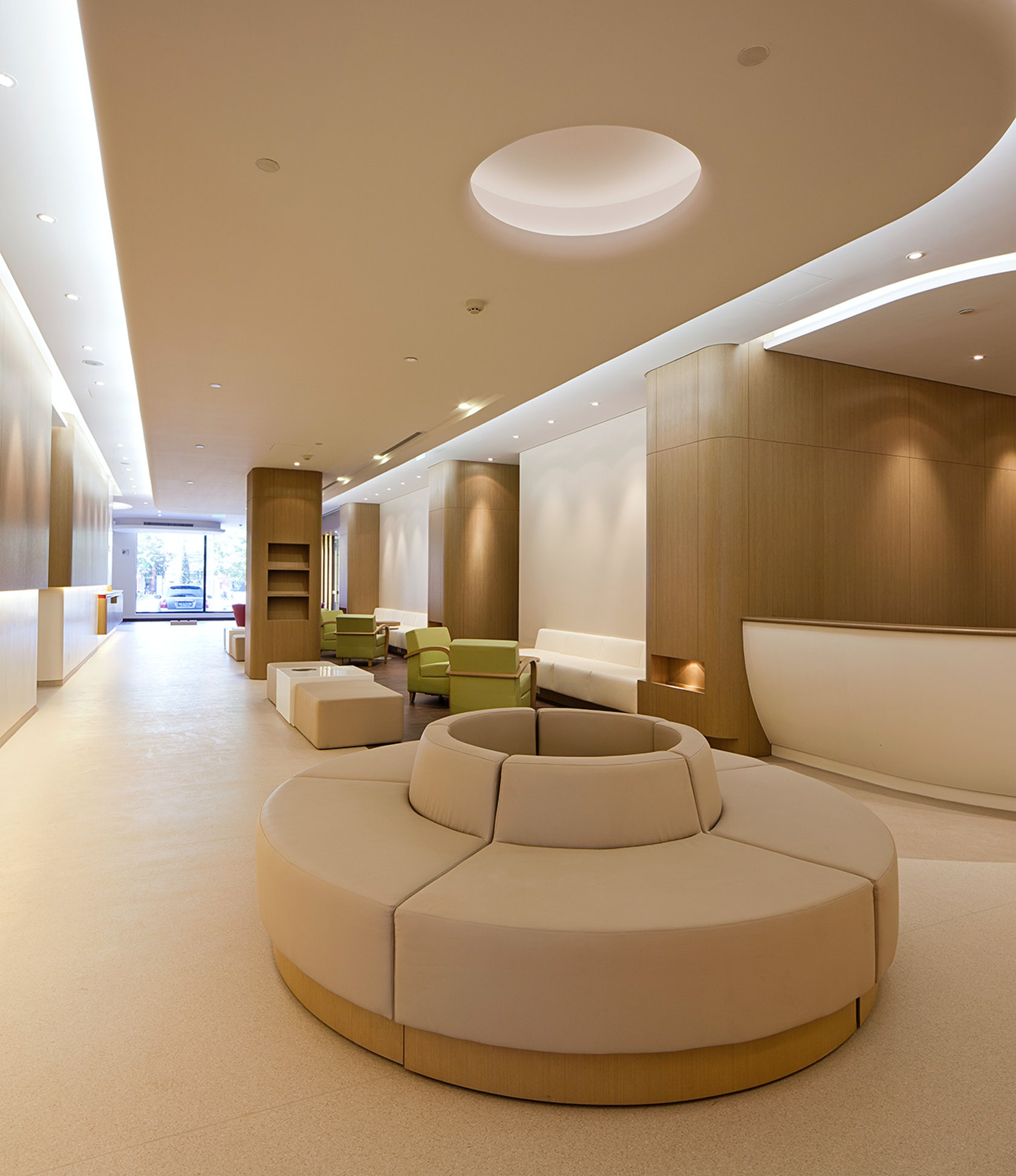 American sino hospital audong clinic architizer for Furniture design classes nyc