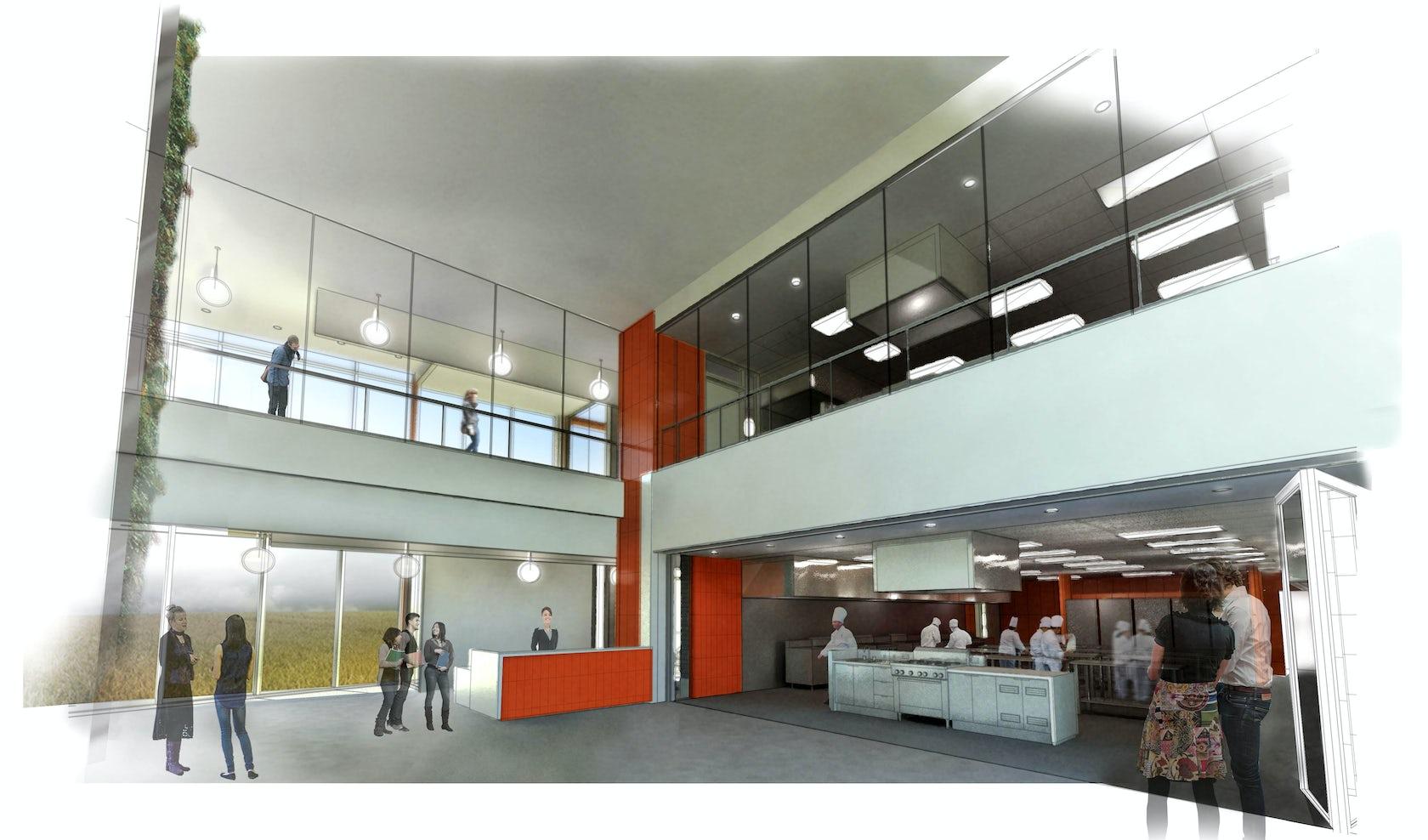 Durham college center for food architizer for New durham media center