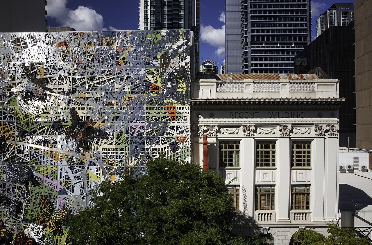 wintergarden art facade on architizer