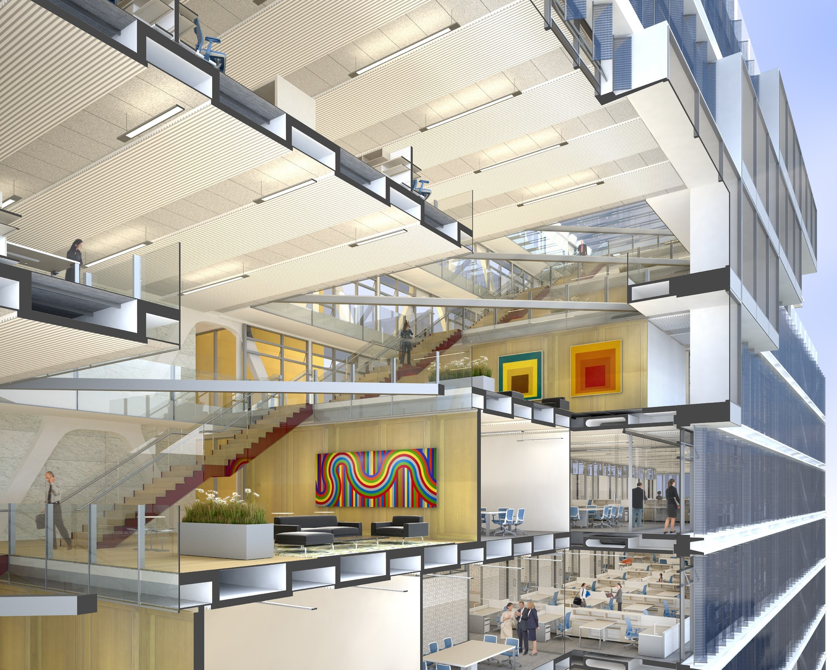 The office building of the future architizer - Interior design jobs washington state ...