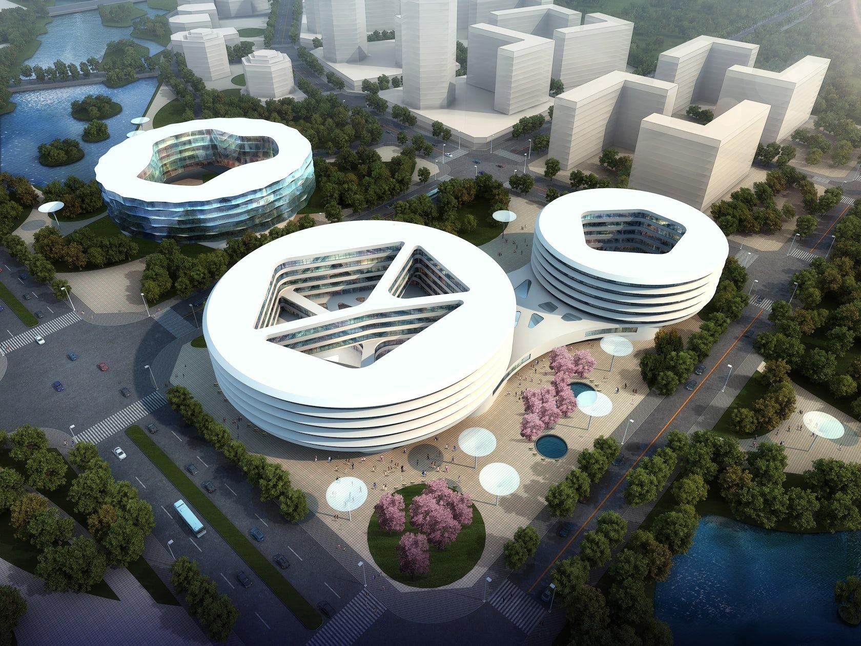 Civic center hangzhou architizer - Hangzhou congress center ...