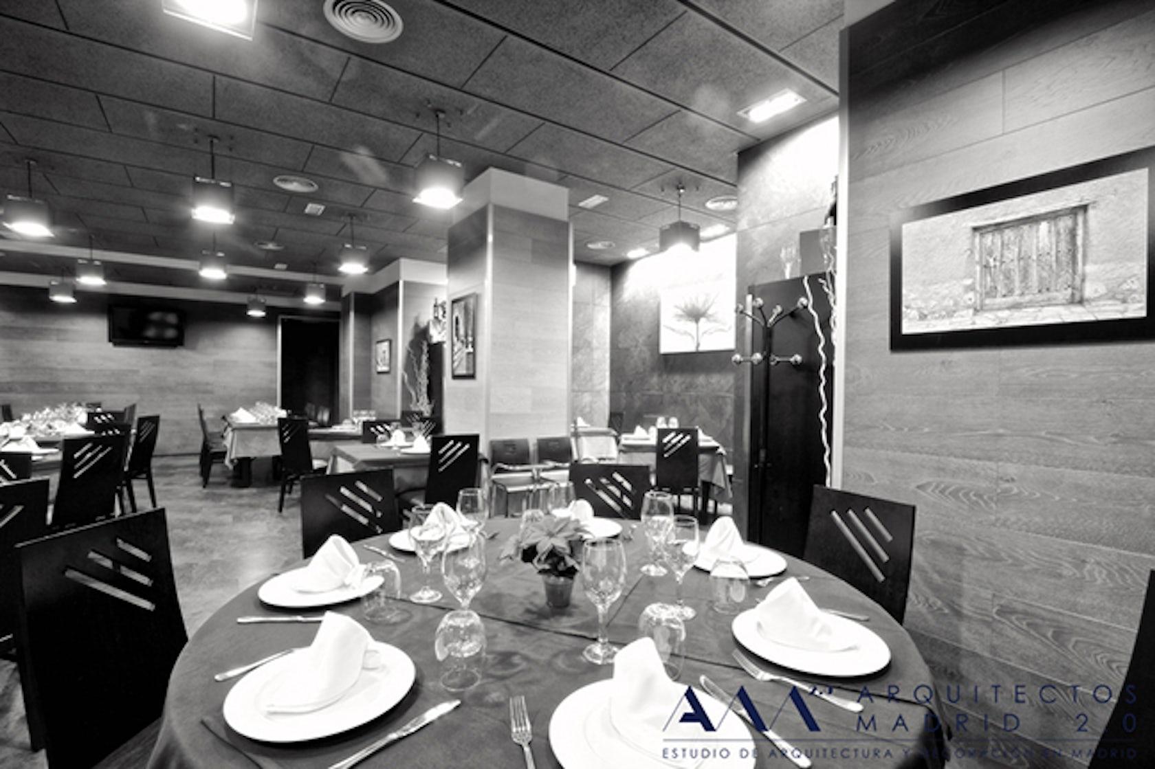 Restaurante en madrid simona restaurant by arquitectos for Restaurante escuela de arquitectos madrid