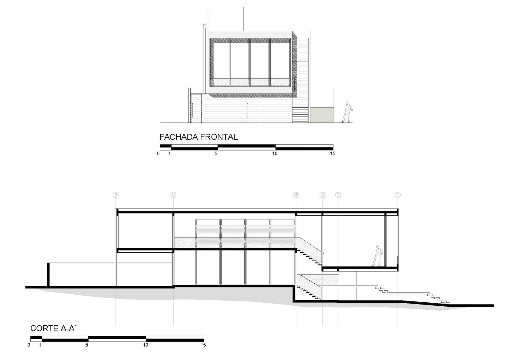 Guaiume house architizer for Fachadas de apartamentos pequenos