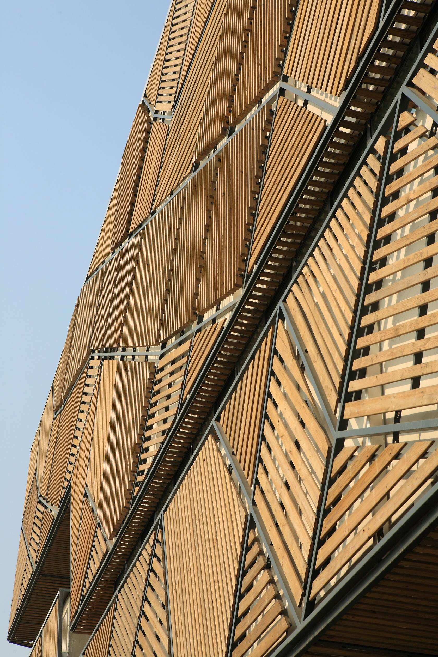 Wood Used For Elevation : Jia little exhibition center architizer