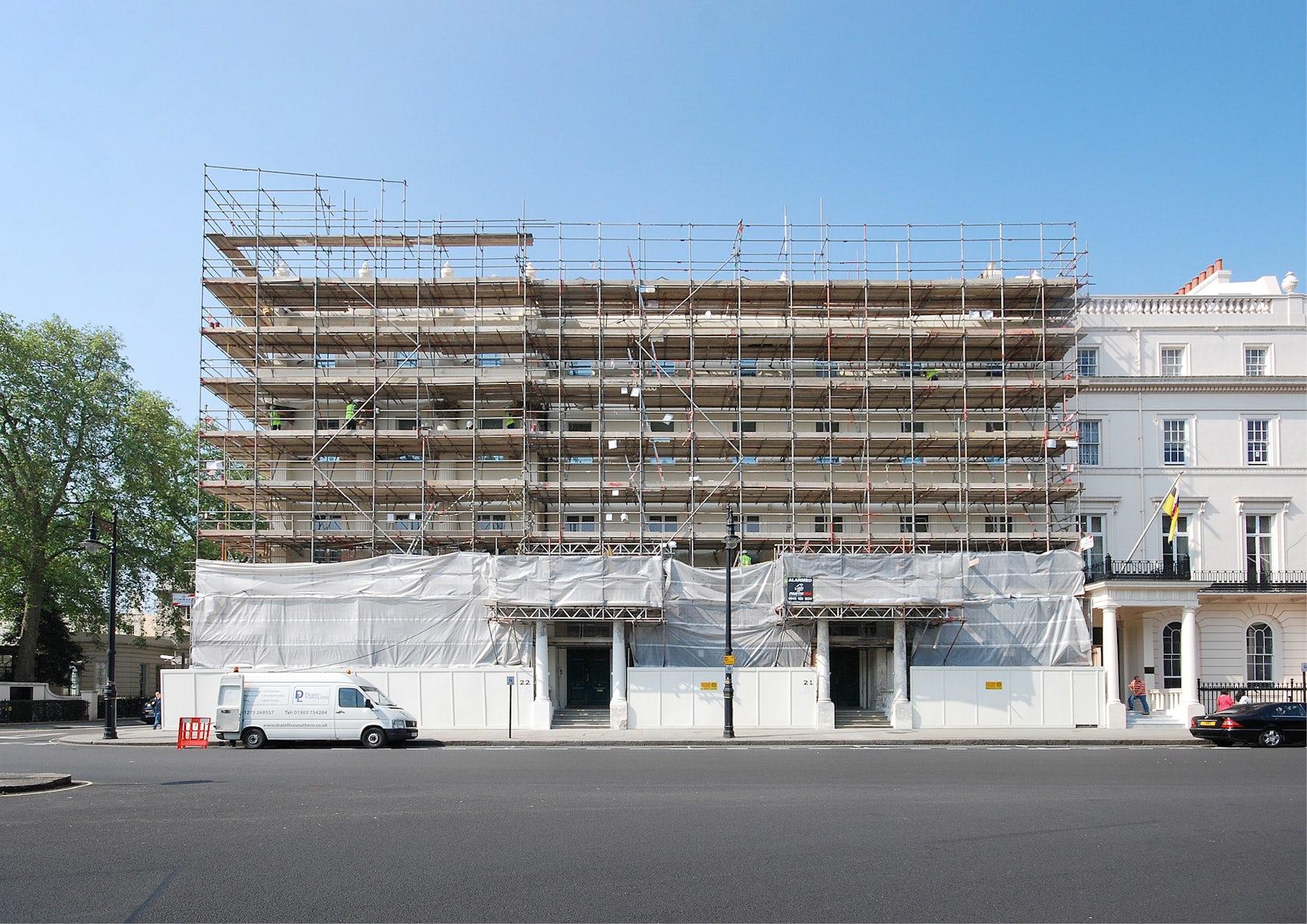 german embassy london fa ade restoration architizer. Black Bedroom Furniture Sets. Home Design Ideas