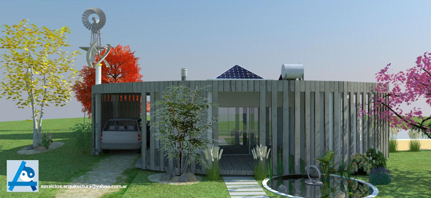 Casa de campo sustentable y con feng shui architizer - Casas feng shui ...