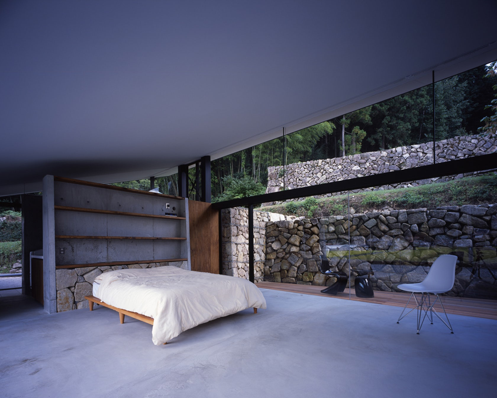 Stone terrace architizer for Terrace images
