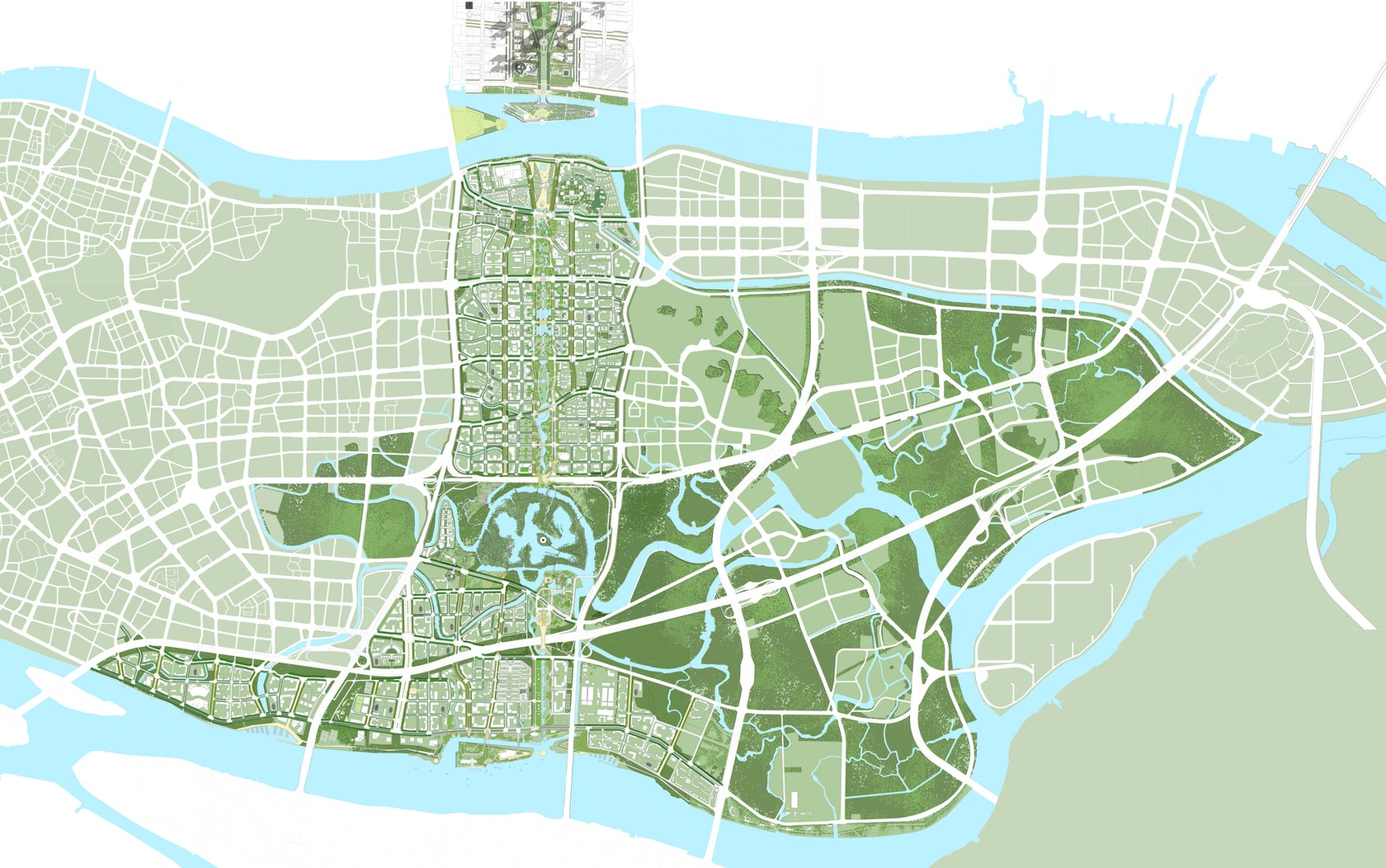 Guangzhou North And South Axis Master Plan Architizer