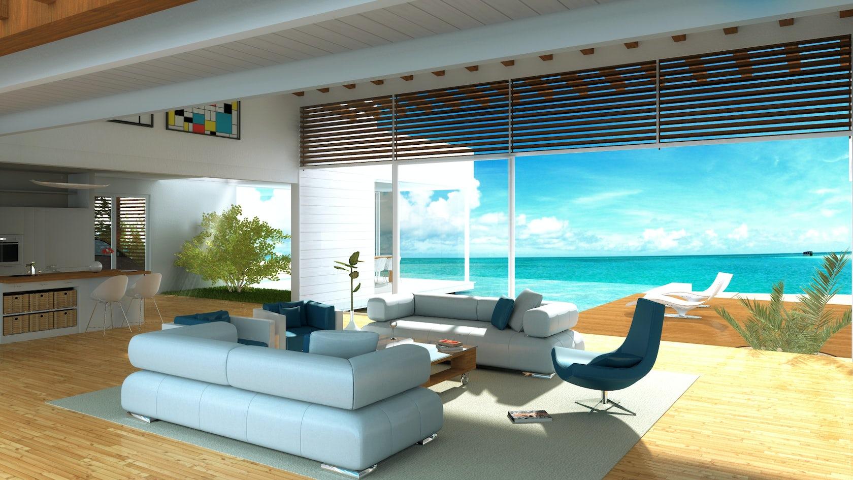 beach villa green island republic architizer. Black Bedroom Furniture Sets. Home Design Ideas