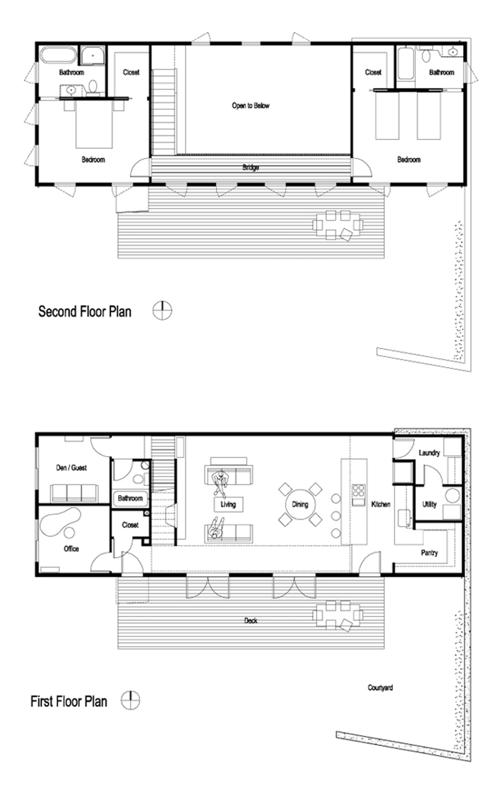 House for a mother daughter architizer for Mother daughter home plans