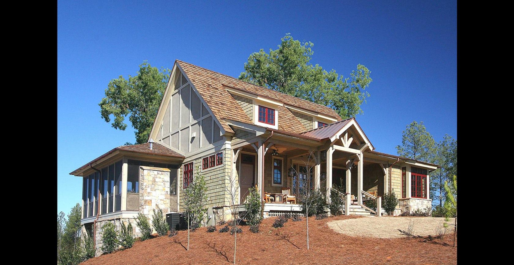 Creek club cottage reynolds plantation ga architizer for Custom home builders in georgia