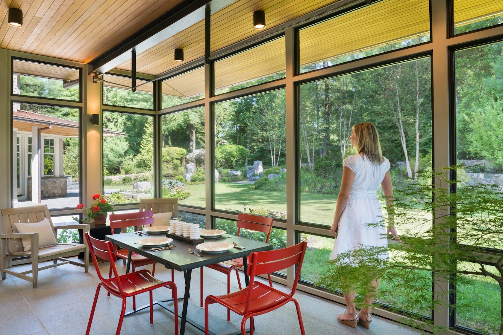 modern screen porch architizer. Black Bedroom Furniture Sets. Home Design Ideas