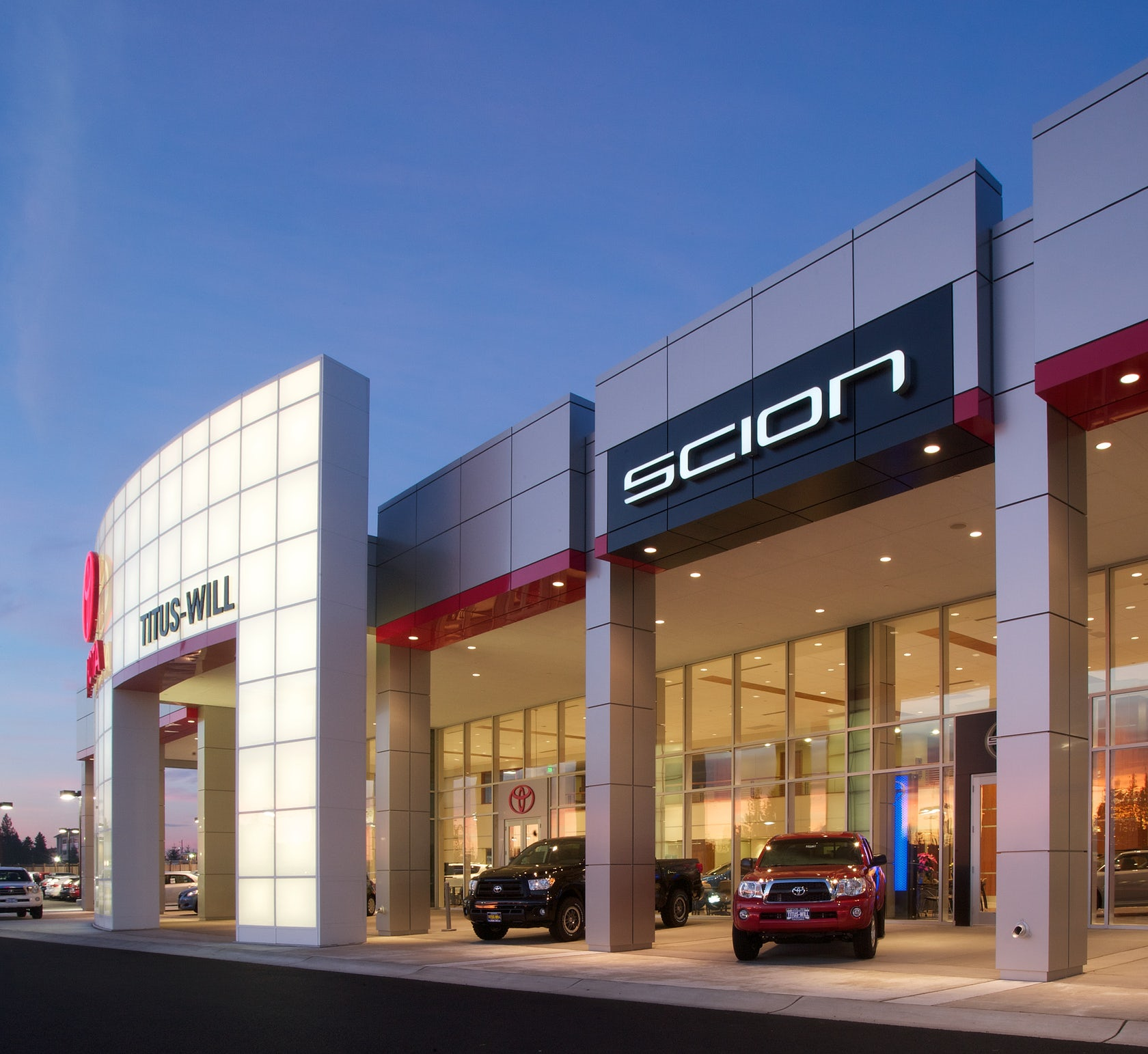Ford Dealership Building Designs: TITUS-WILL TOYOTA