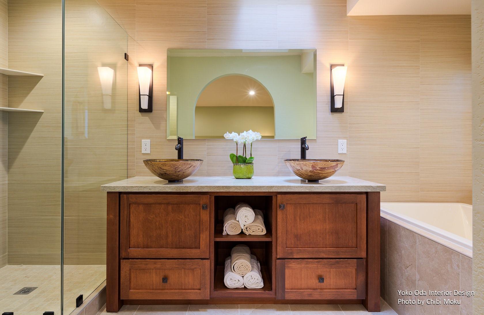 Yoko oda interior design zen bathroom effortless for Bath remodel walnut creek ca