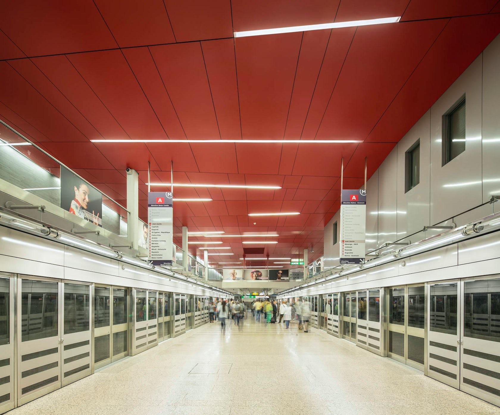 Jean jaur s subway station architizer - Cabinet ophtalmologie toulouse jean jaures ...