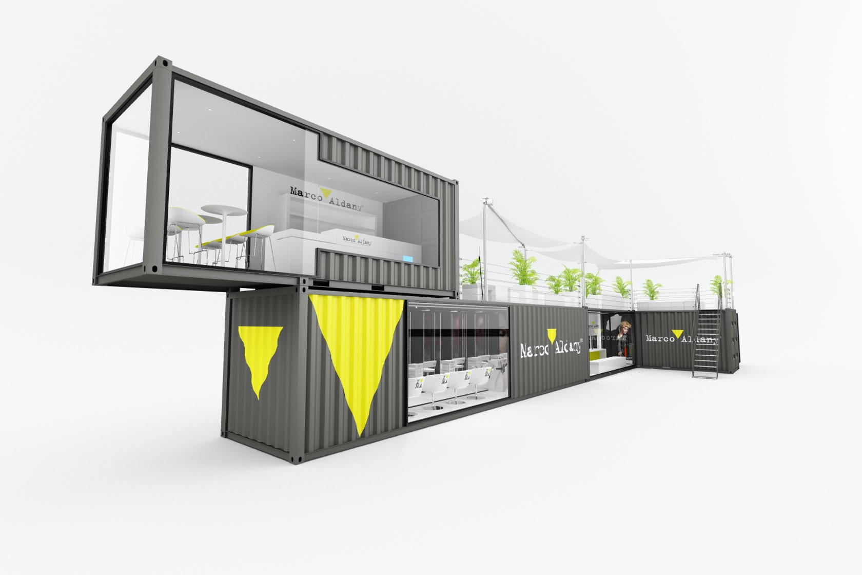 Marco aldany pop up beauty salon architizer for Container wohnhaus