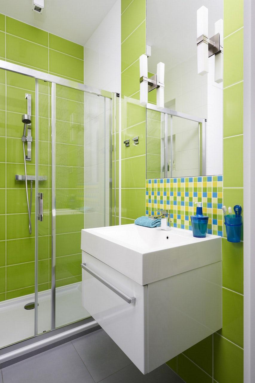 Badezimmer grun