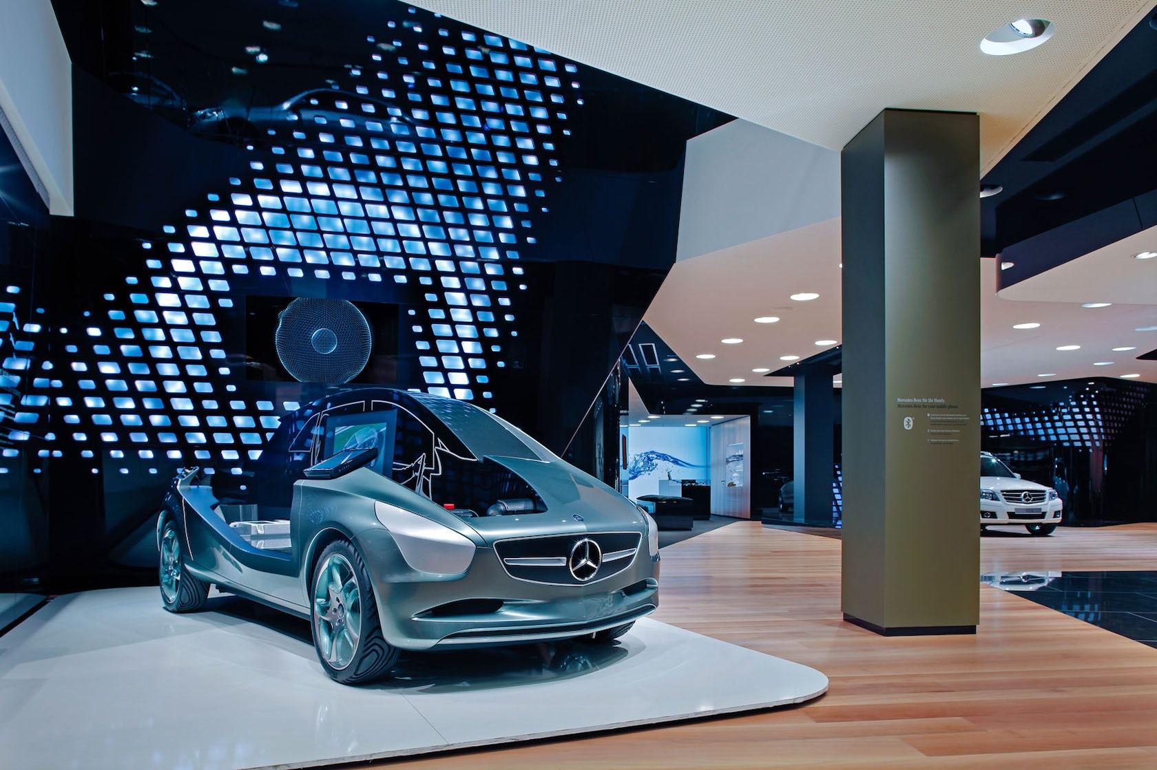 showroom 39 mercedes benz gallery 39 berlin architizer. Black Bedroom Furniture Sets. Home Design Ideas