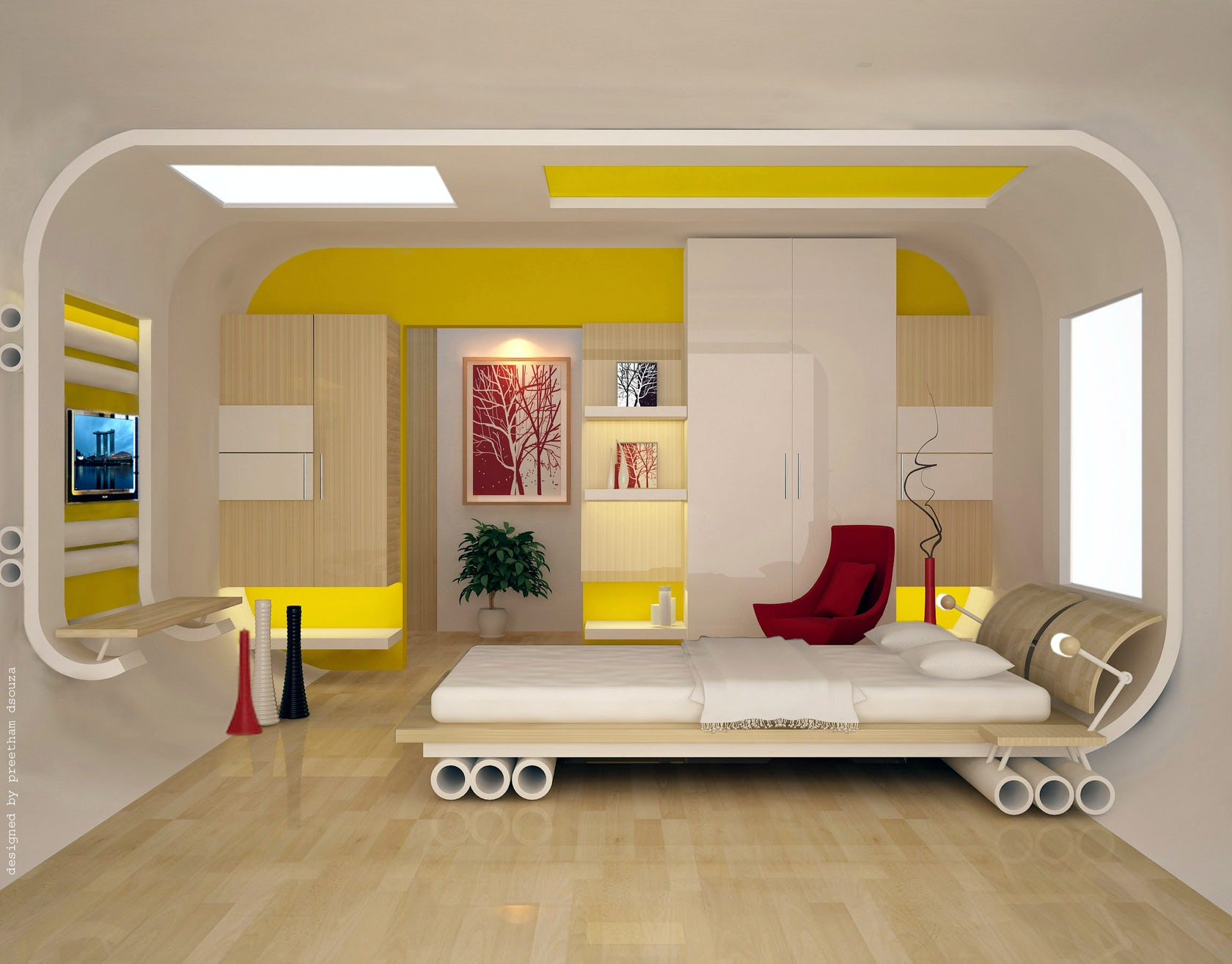 Bedroom designs architizer for Bedroom interiors india