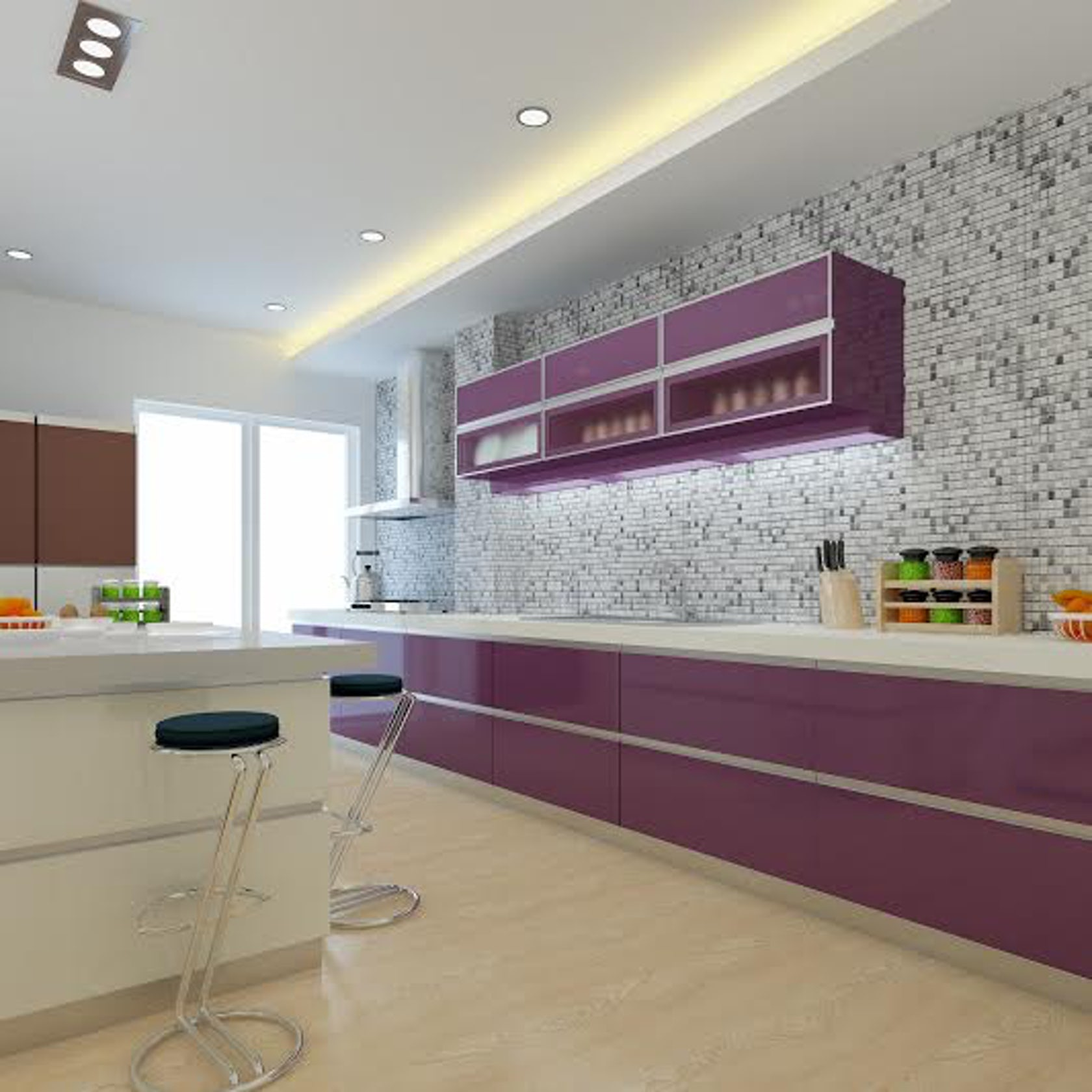 PhotoRealistic Rendering Of Kitchen
