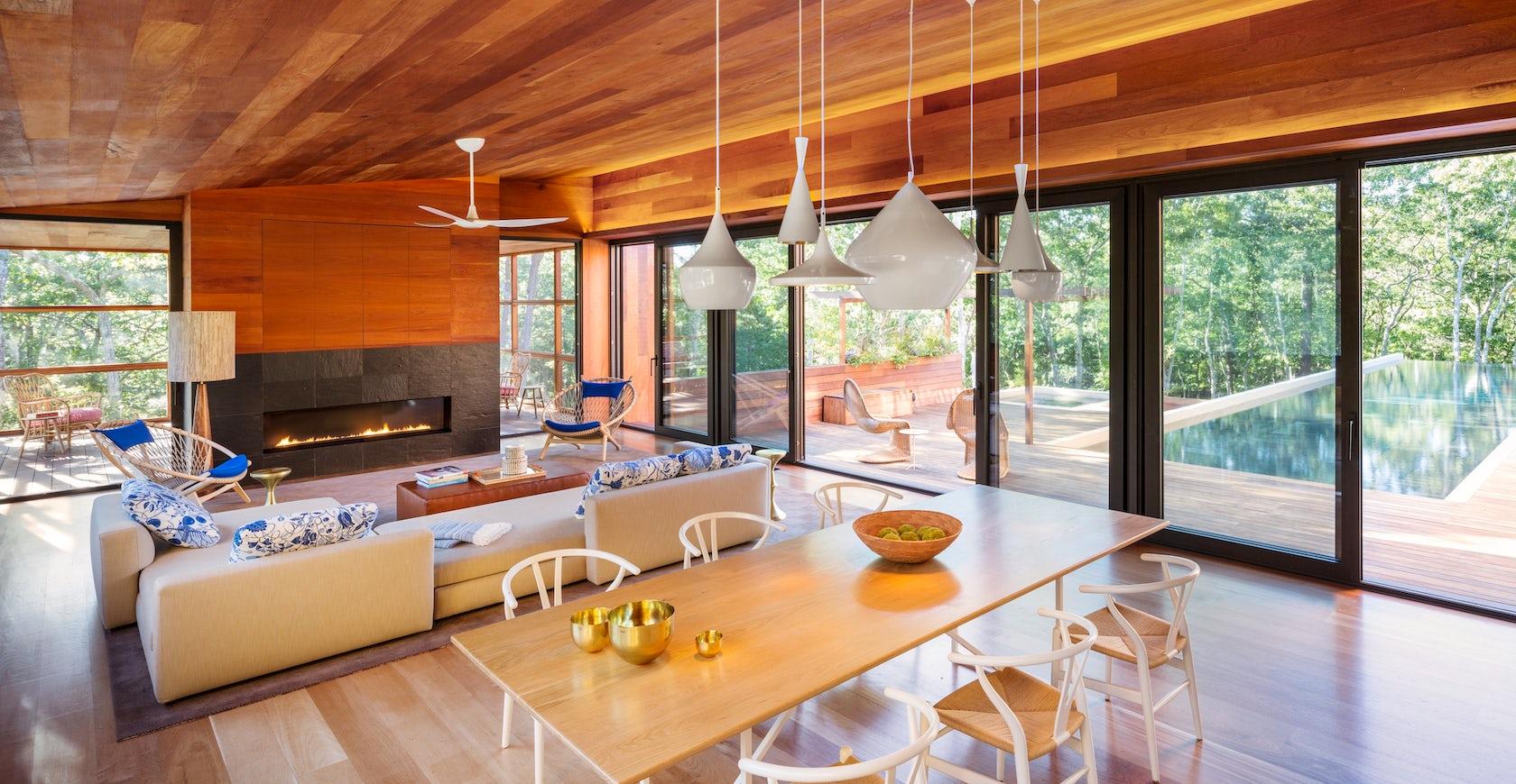 modern cabin architizer. Black Bedroom Furniture Sets. Home Design Ideas