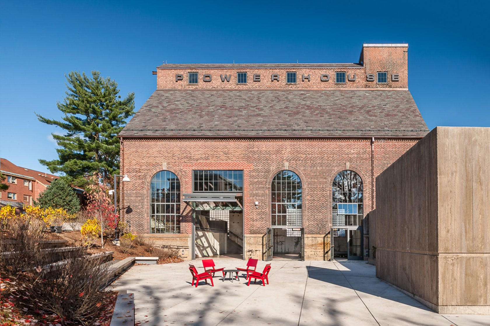 Amherst college powerhouse student event space architizer for College street motors amherst ma