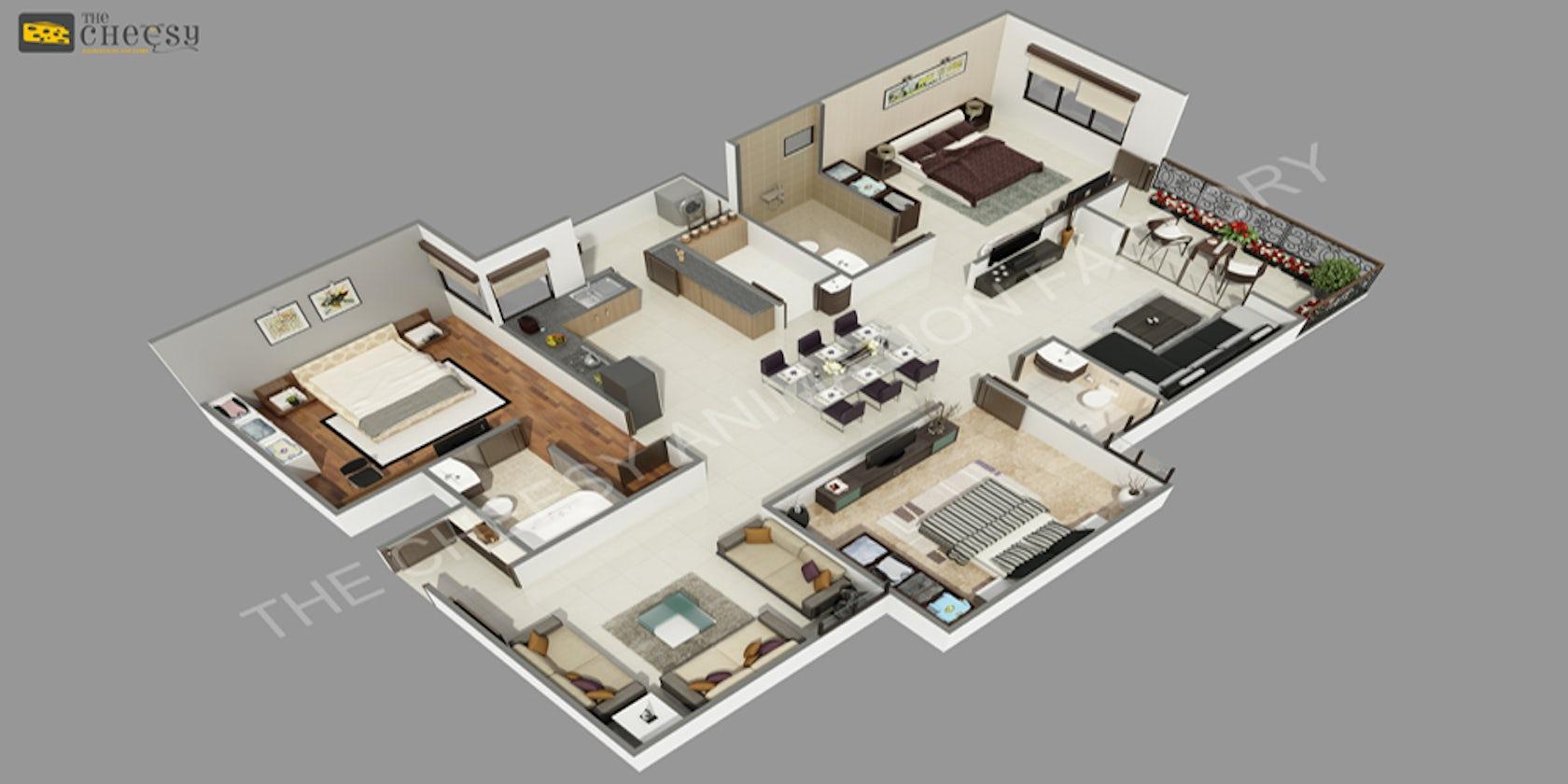3d floor plan rendering architizer for 3d floor plan rendering