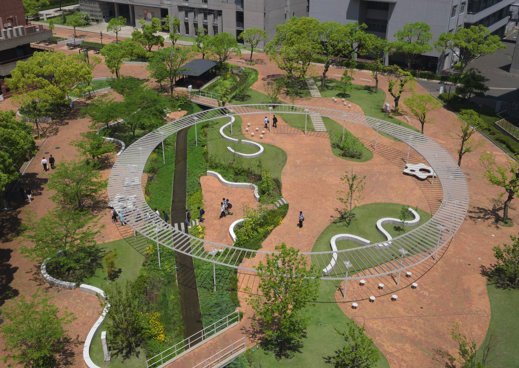 kyushu sangyo university landscape design architizer