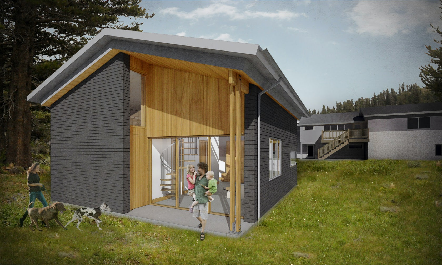 Northwest modern adu architizer for Adu designs