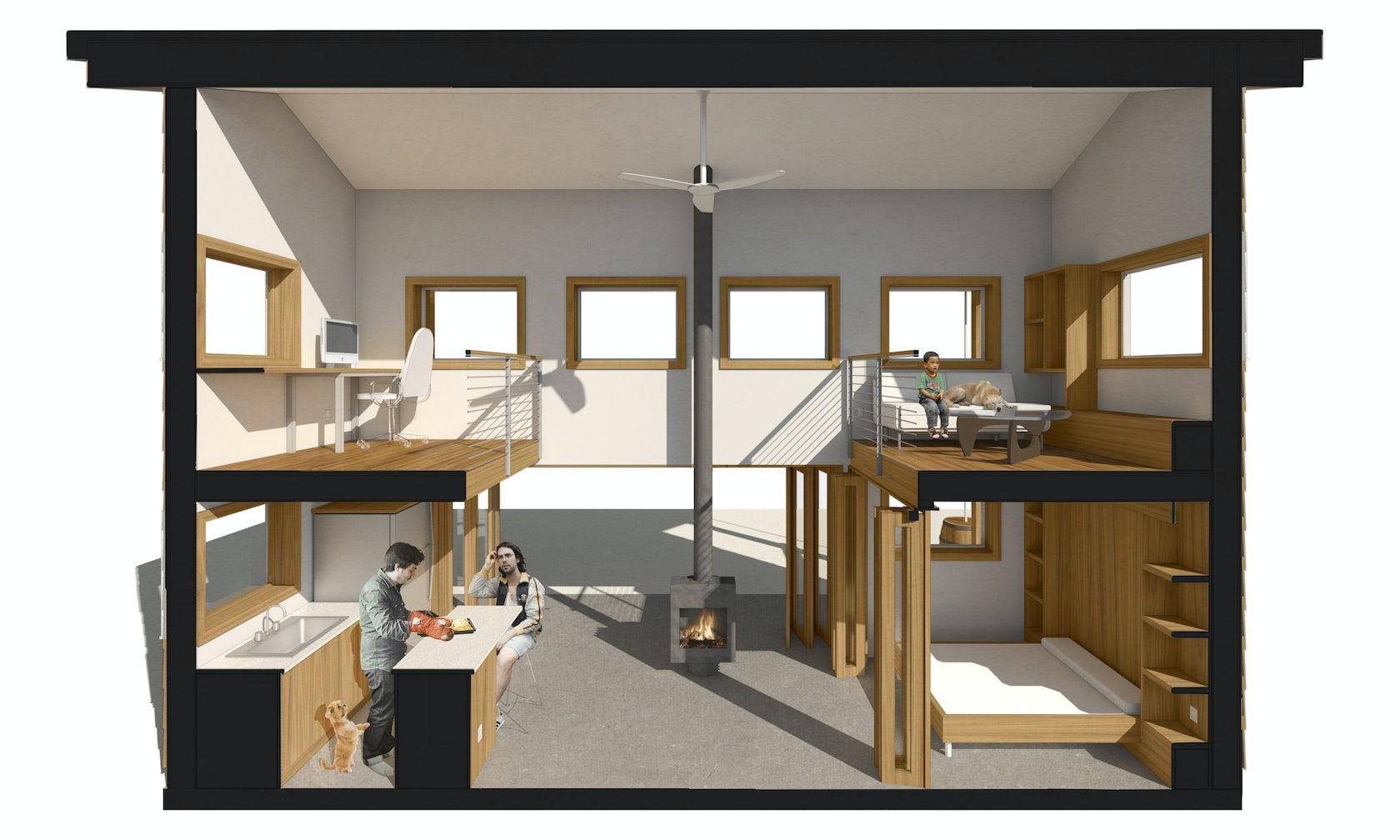 Sustainable portland adu architizer for Adu house plans