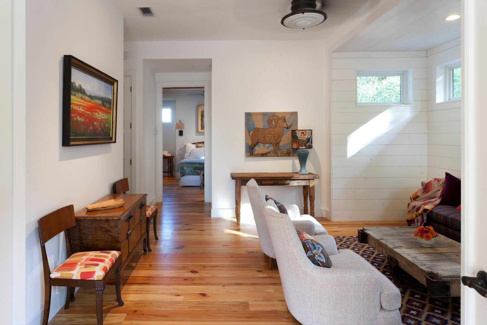 Springdale farmhouse architizer for Industrial farmhouse family room