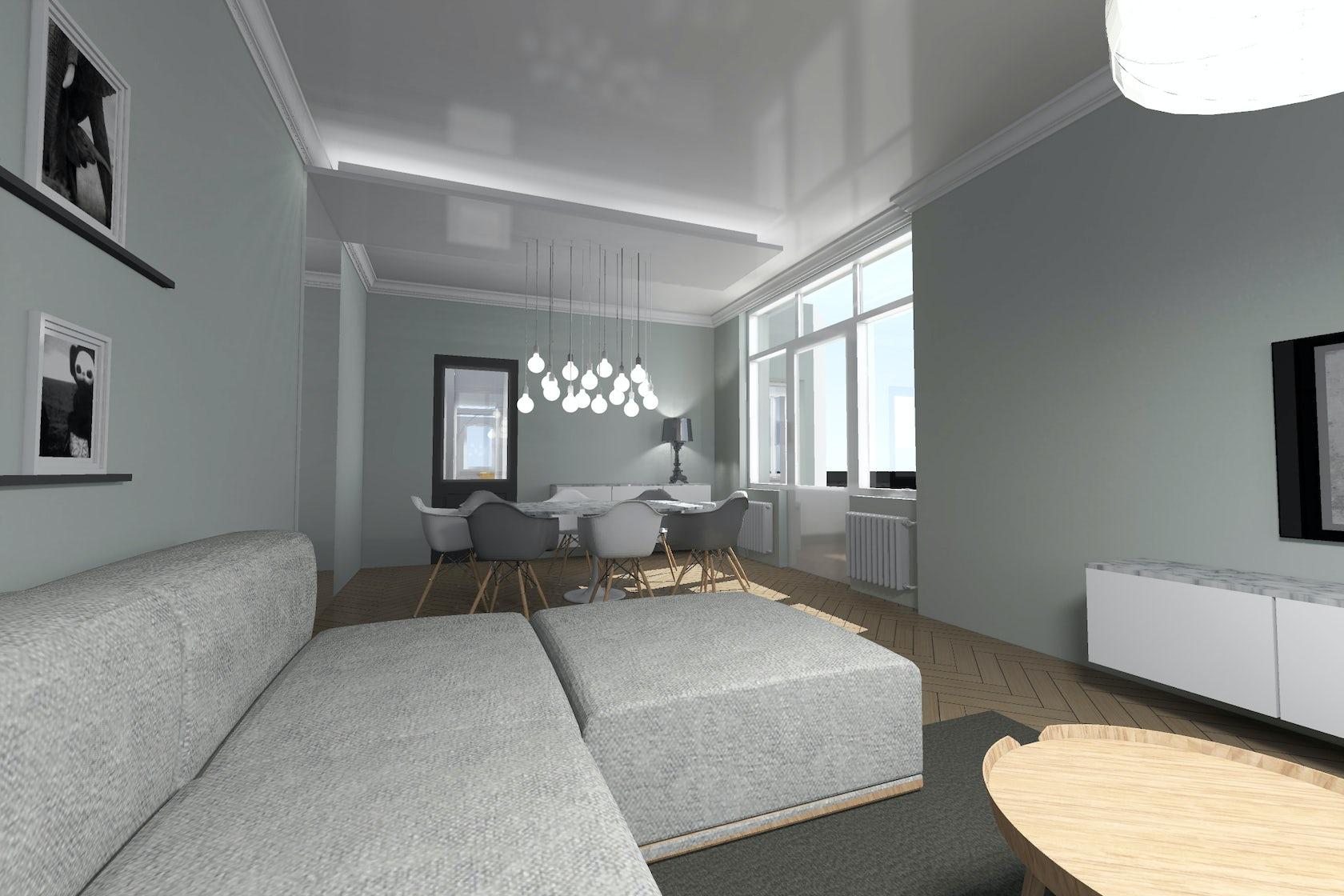 am nagement d un rez de chauss e d une maison individuelle et r novation de fa ade architizer. Black Bedroom Furniture Sets. Home Design Ideas