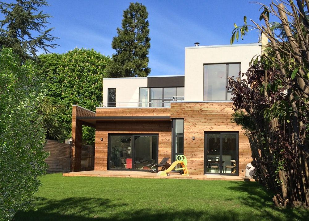 maison ossature bois architizer