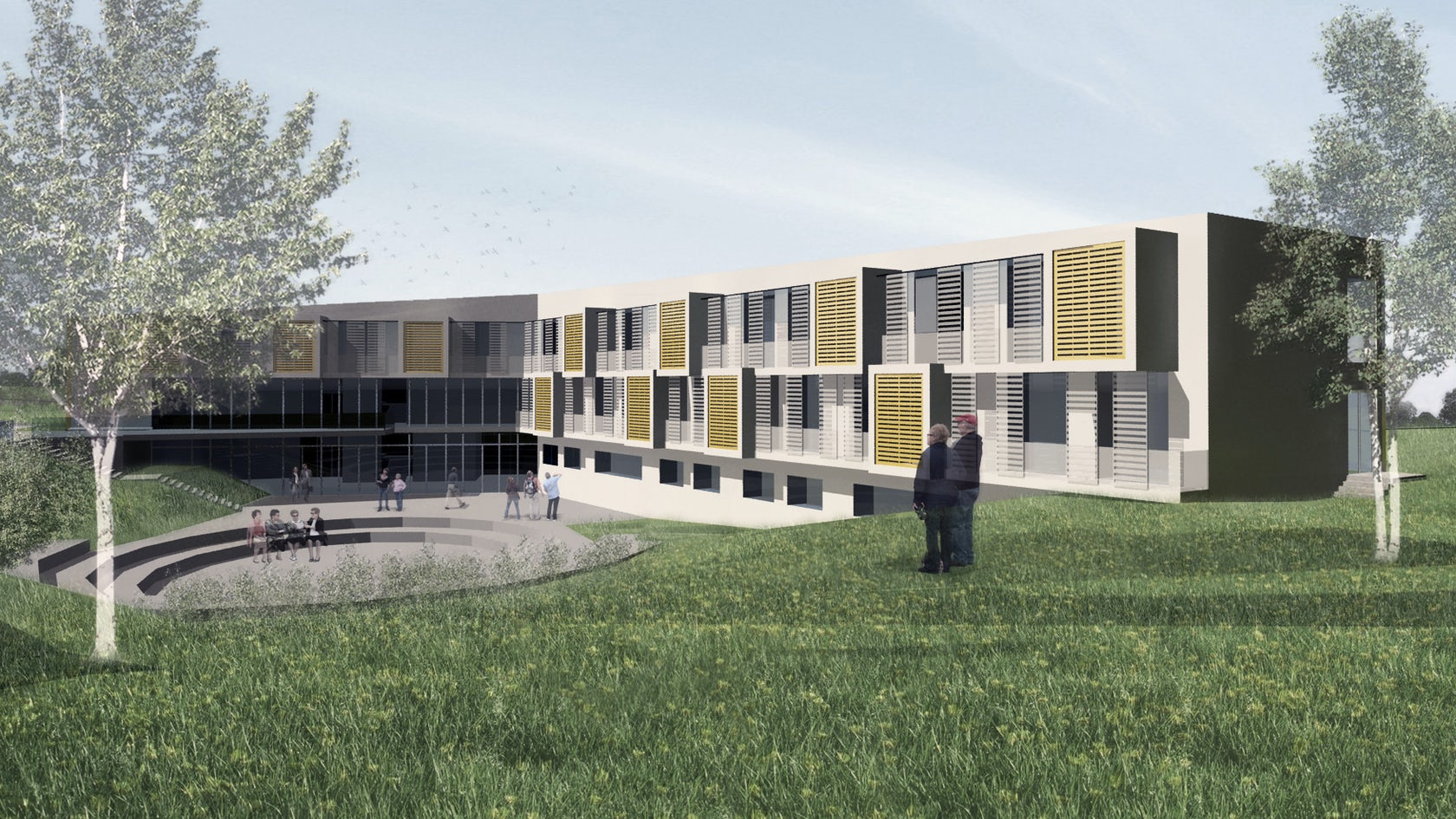 Nursing home building and public park in labin architizer for How to build a retirement home