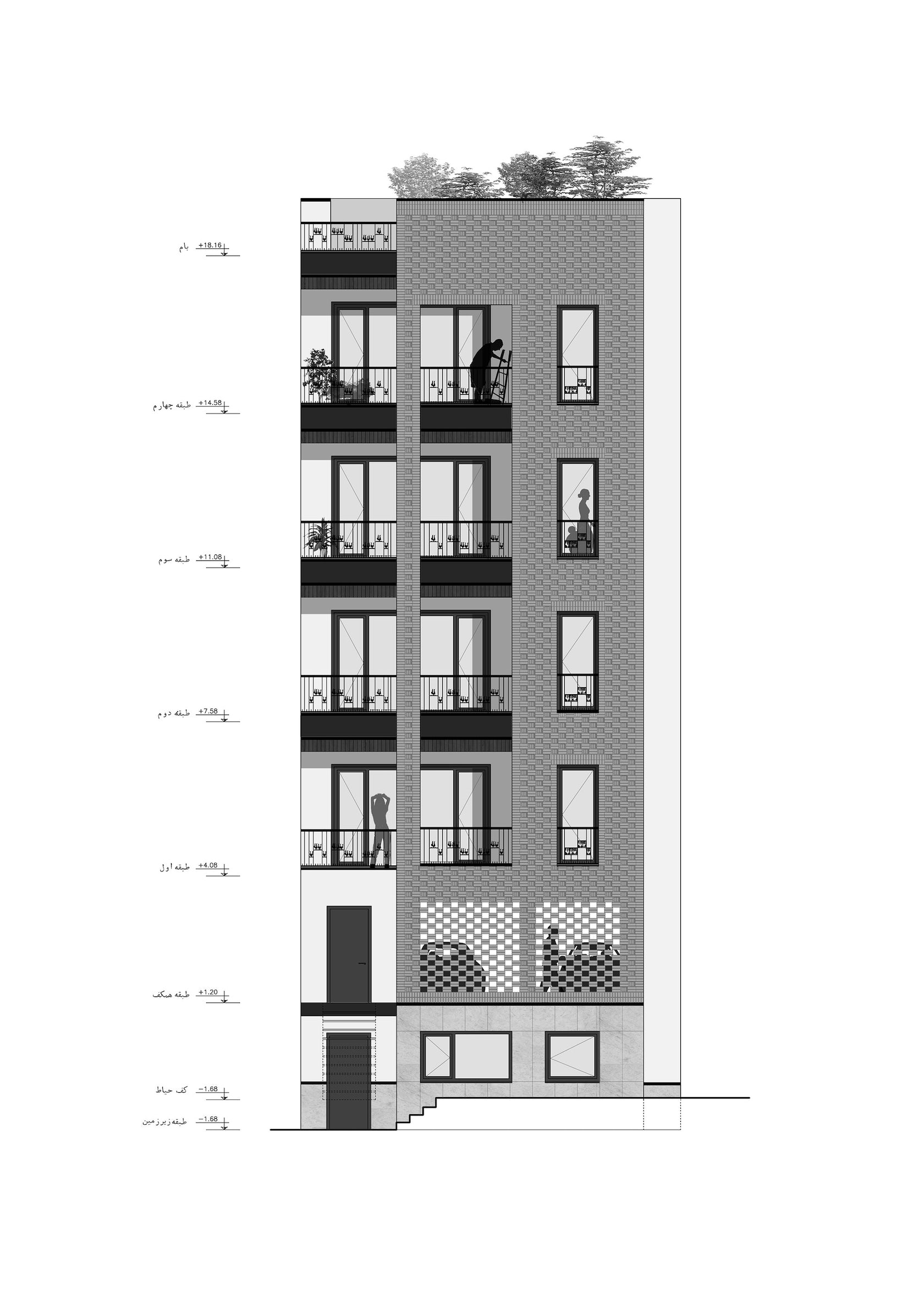 Residential Architecture Elevations : Haghighi residential building architizer