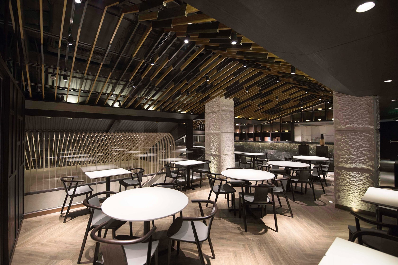 Tasty flagship restaurant taikoo li chengdu architizer for Buro restaurant