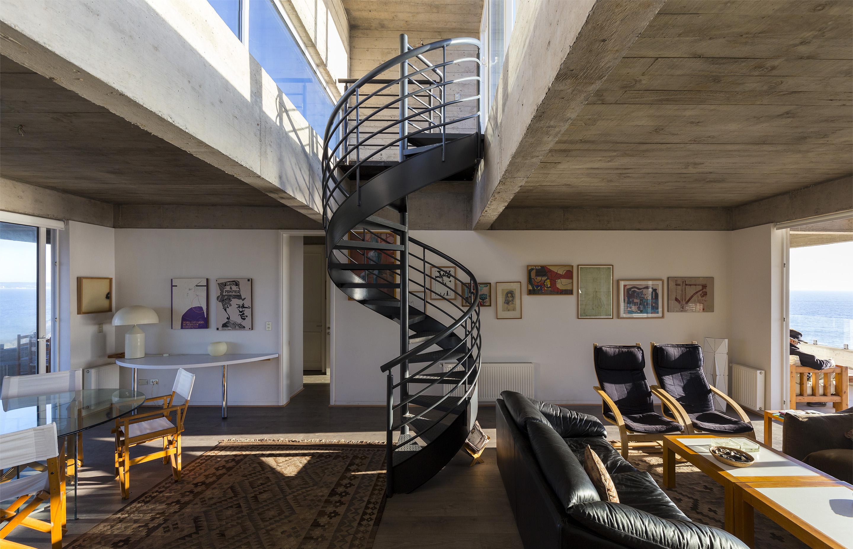 """Бетонный дом на скале в Чили блог """"Частная архитектура""""."""
