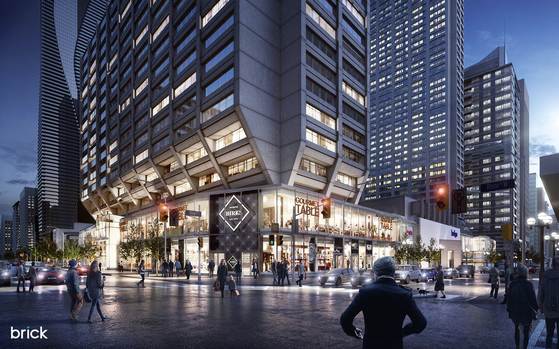 Architectural Visualization Of 55 Bloor Street Toronto Canada Architizer