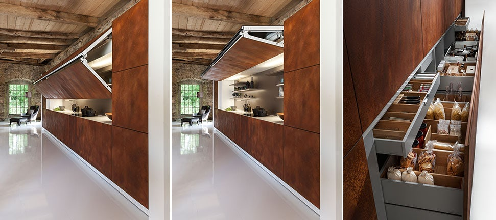 The Art of Hiding: A Kitchen That Tucks Away