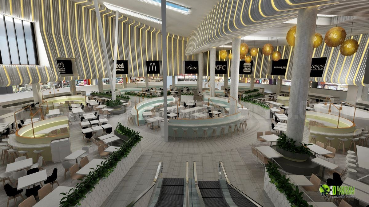 bar - restaurant 3d interior design on architizer