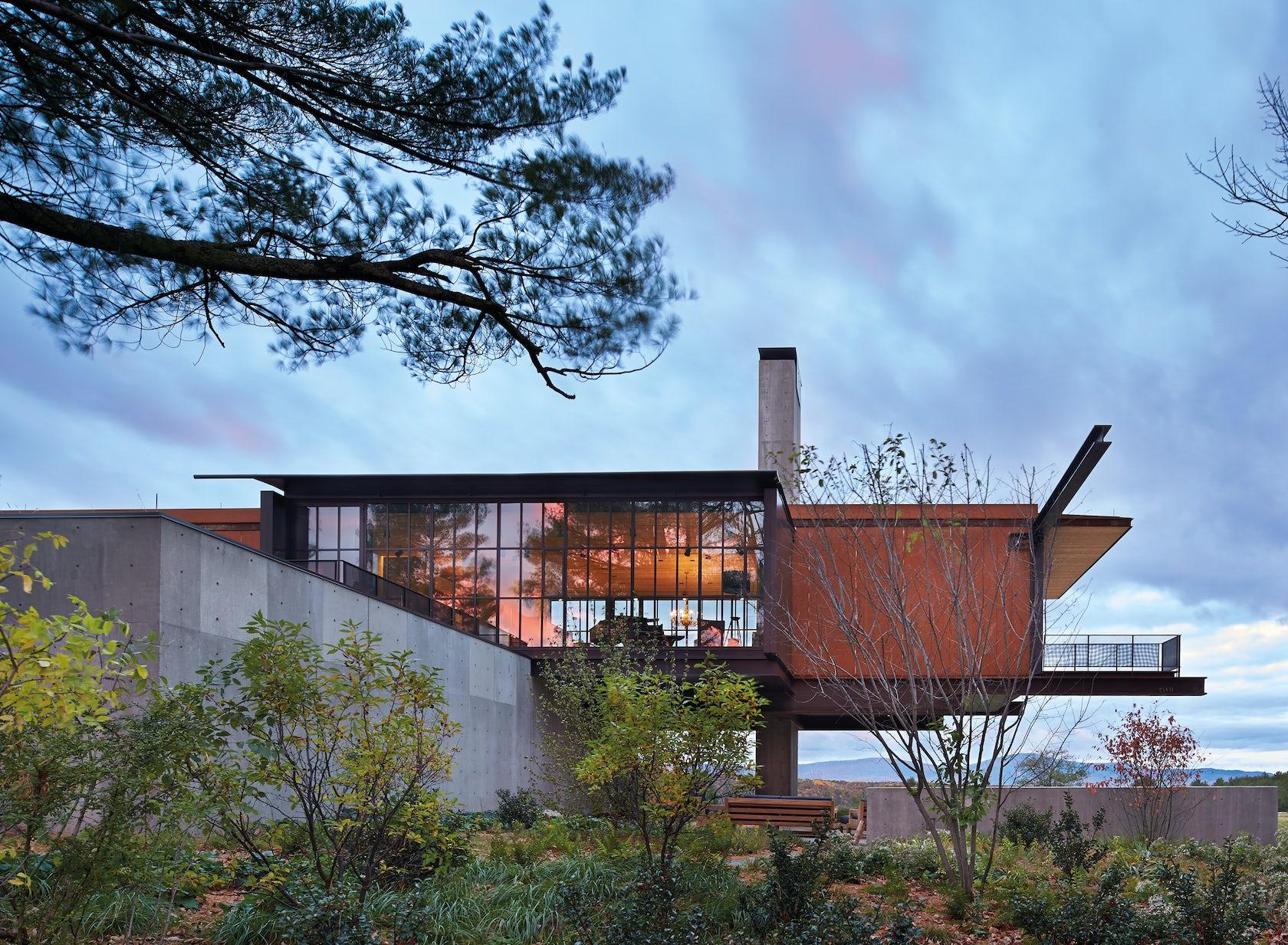 Berkshire residence architizer for Tye river cabin co