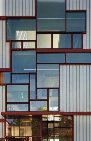 Pratt Institute Higgins Hall Insertion Architizer